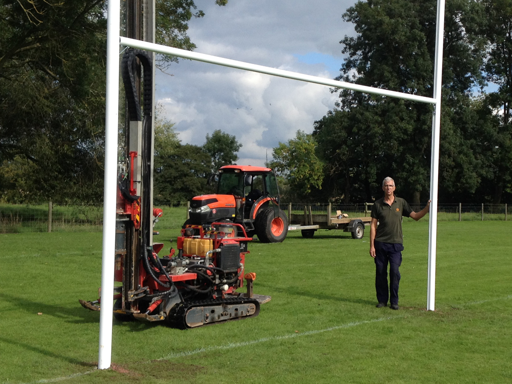 Ground Screw Installation Machine for Rugby Posts