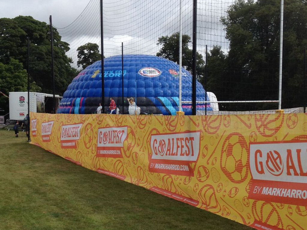 Carfest 2015 Ground Screws Sports Pitch