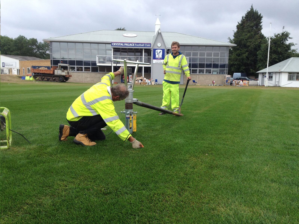Crystal Palace Football Club Side Ground Screw Installation